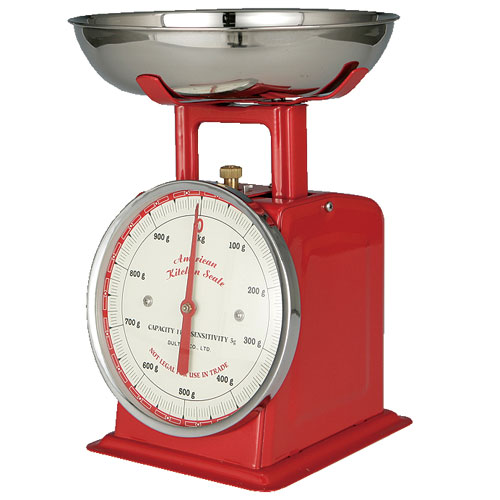 AMERICAN KITCHEN SCALE RED