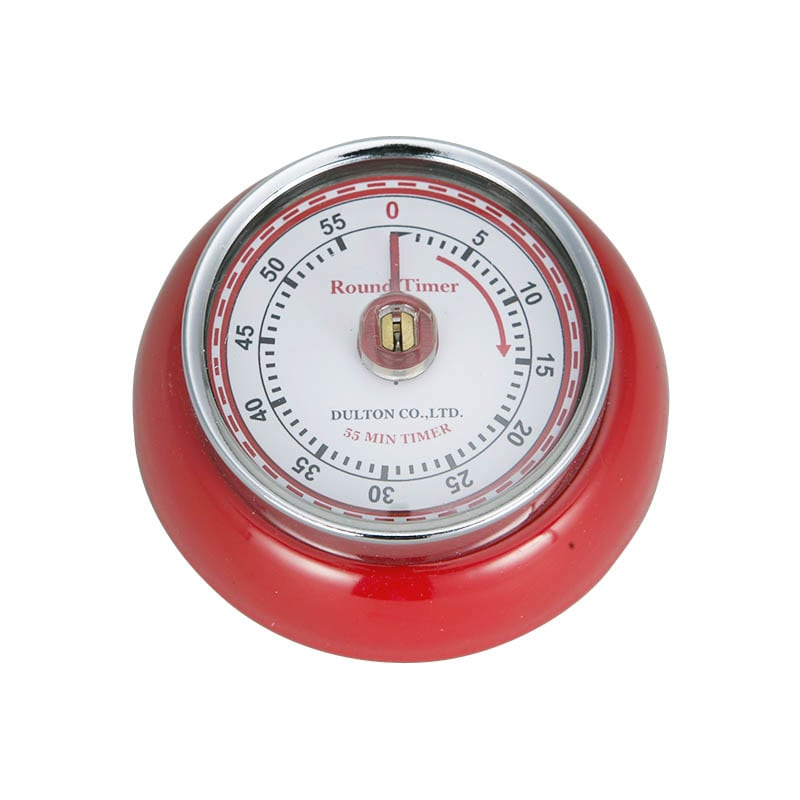 KITCHEN TIMER WITH MAGNET RED