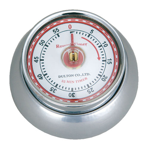 KITCHEN TIMER WITH MAGNET SILVER