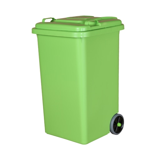 PLASTIC TRASH CAN 65L L.GREEN