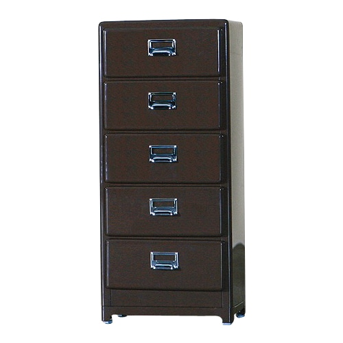 5 DRAWERS CHEST BROWN