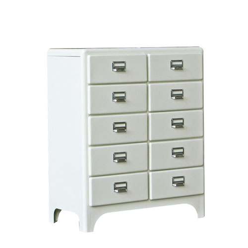 2 COLUMNS BY 5 DRAWERS IVORY