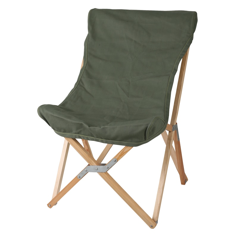 WOODEN BEACH CHAIR OLIVE