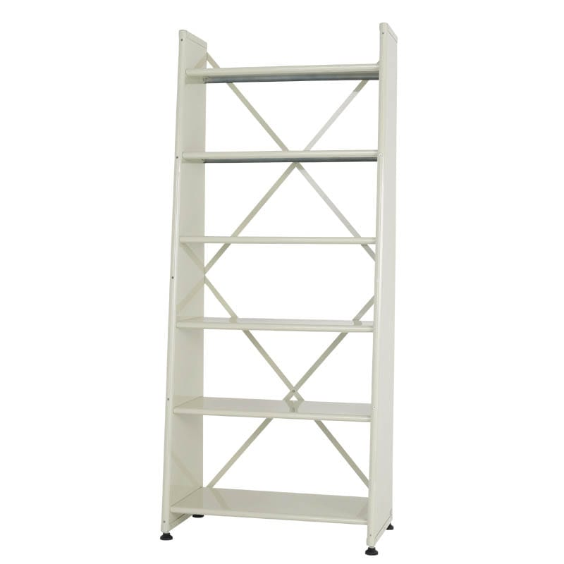 6 TIER TAPERED METAL SHELF IVORY