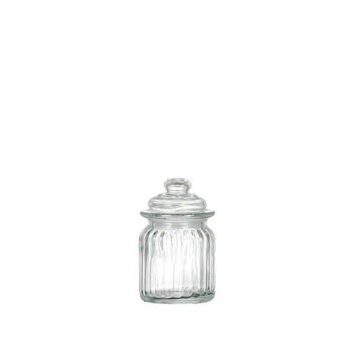 GLASS CANISTER ''PUMPKIN'' XS