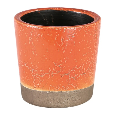 COLOR GLAZED POT ORANGE