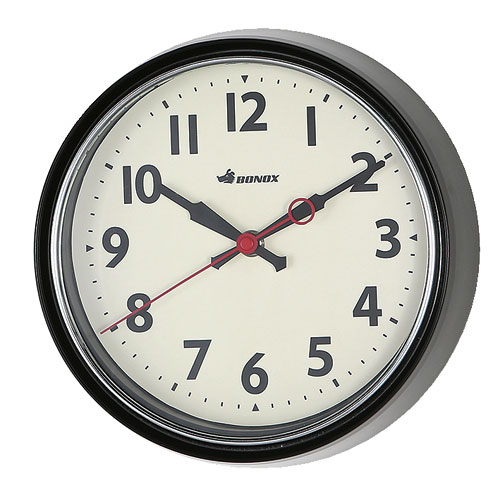WALL CLOCK BLACK
