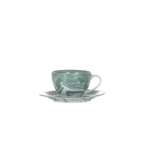 EBLE COLLECTION CUP & SAUCER GREEN