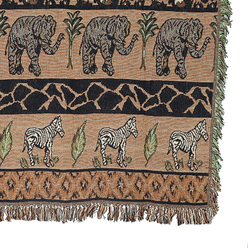 JACQUARD THROW ''SAFARI''