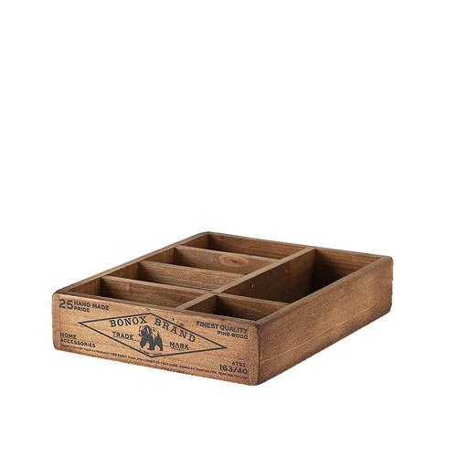 WOODEN ORGANIZER BOX  NATURAL