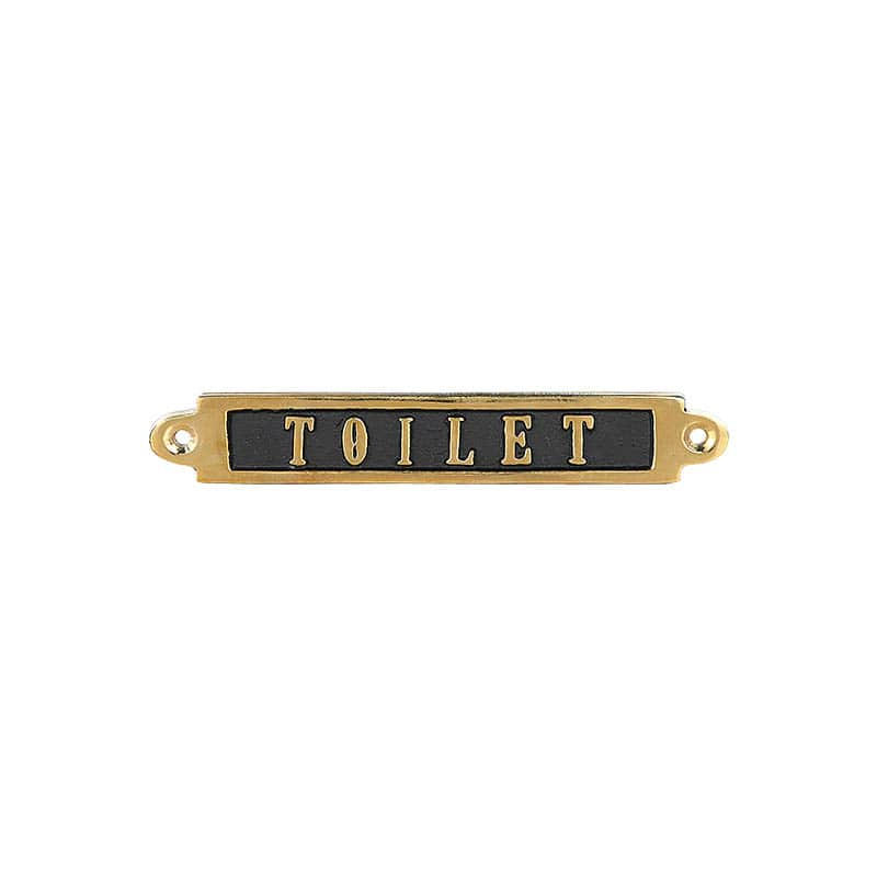 BRASS SIGN  TOILET