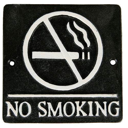 SQUARE SIGN NO SMOKING A.BLACK