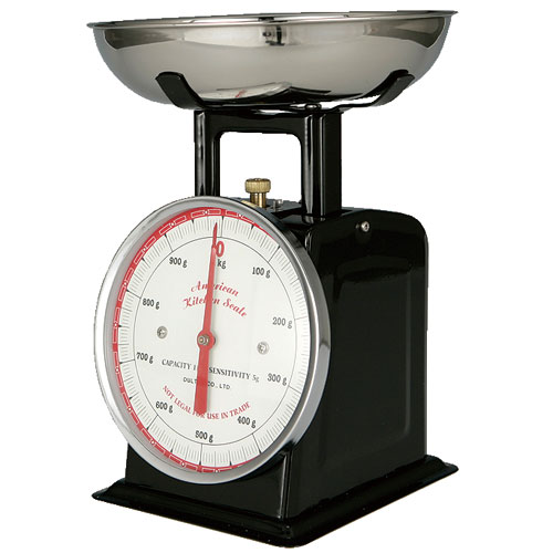AMERICAN KITCHEN SCALE BLACK