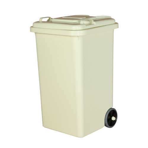 PLASTIC TRASH CAN 65L IVORY