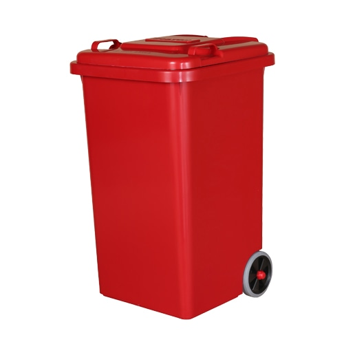 PLASTIC TRASH CAN 65L RED