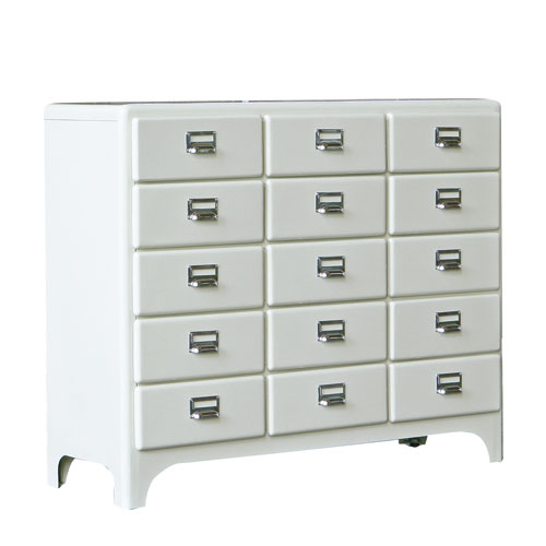 3 COLUMNS BY 5DRAWERS IVORY
