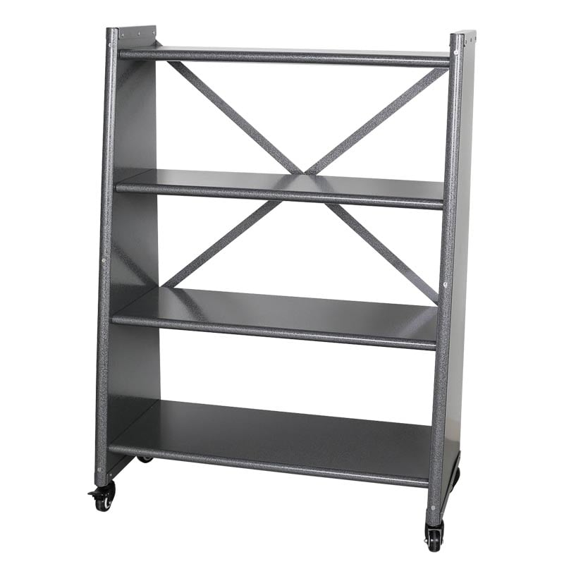 4 TIER TAPERED METAL SHELF H.GRY