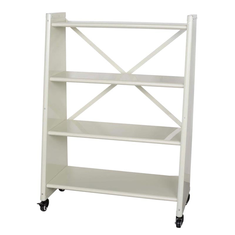 4 TIER TAPERED METAL SHELF IVORY
