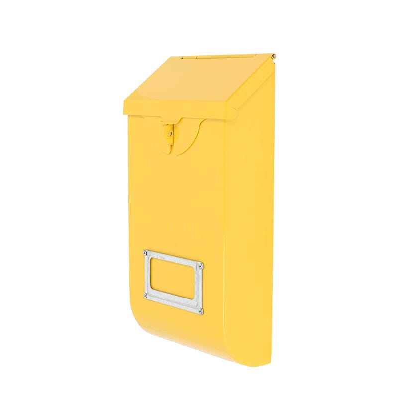 MAIL STORAGE BOX YELLOW