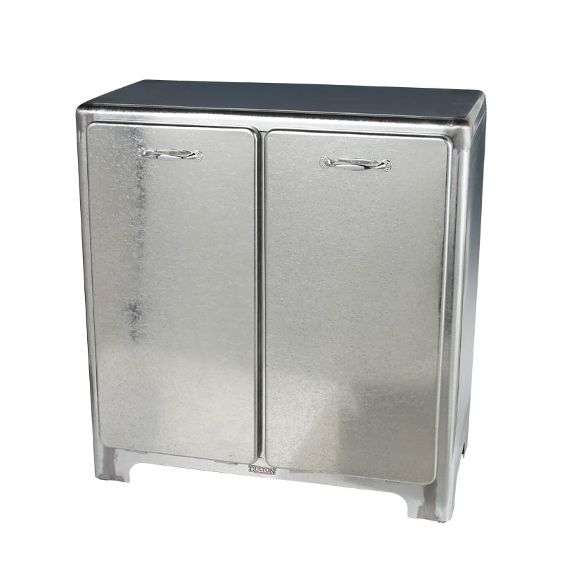 2 DOORS TRASH CAN GALVANIZED