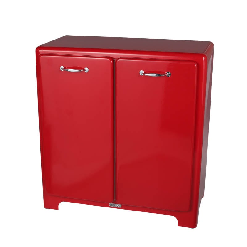 2 DOORS TRASH CAN RED
