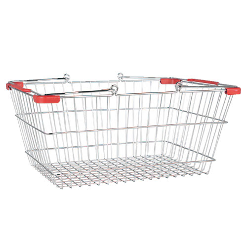 MARKET BASKET-L (CHROME/RED)