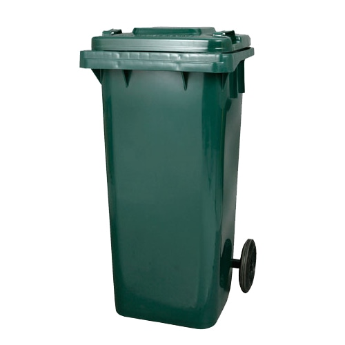PLASTIC TRASH CAN 120L GREEN