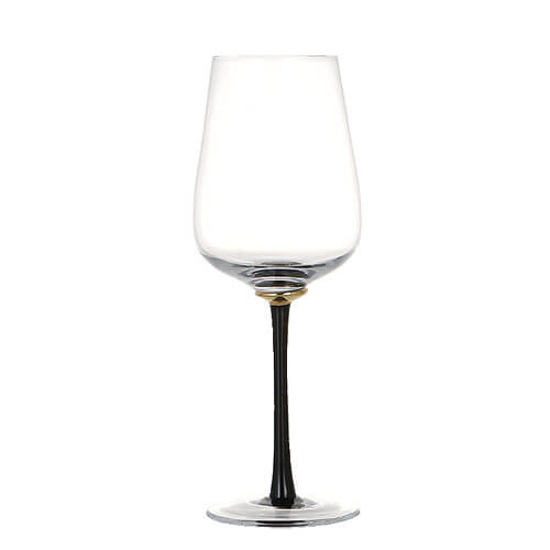 GOLD POINT GLASS  WINE BLACK