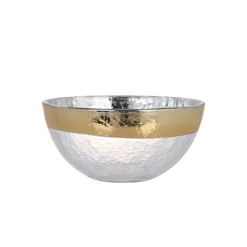 GLASS TABLEWARE OBO GOLD BOWL 130