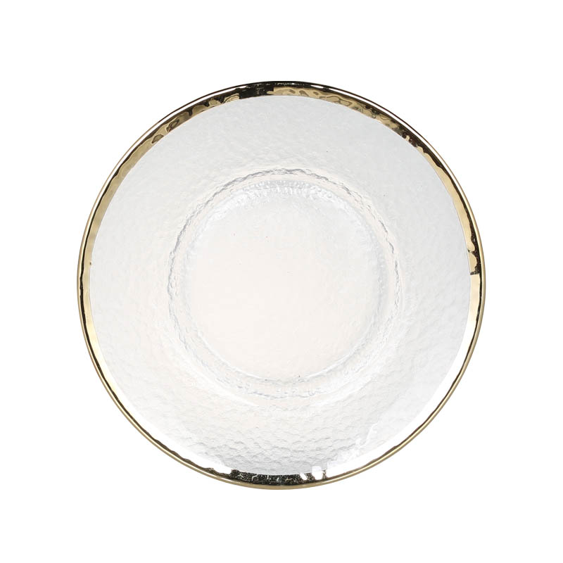 GLASS TABLEWARE OBO GOLD PLATE 220