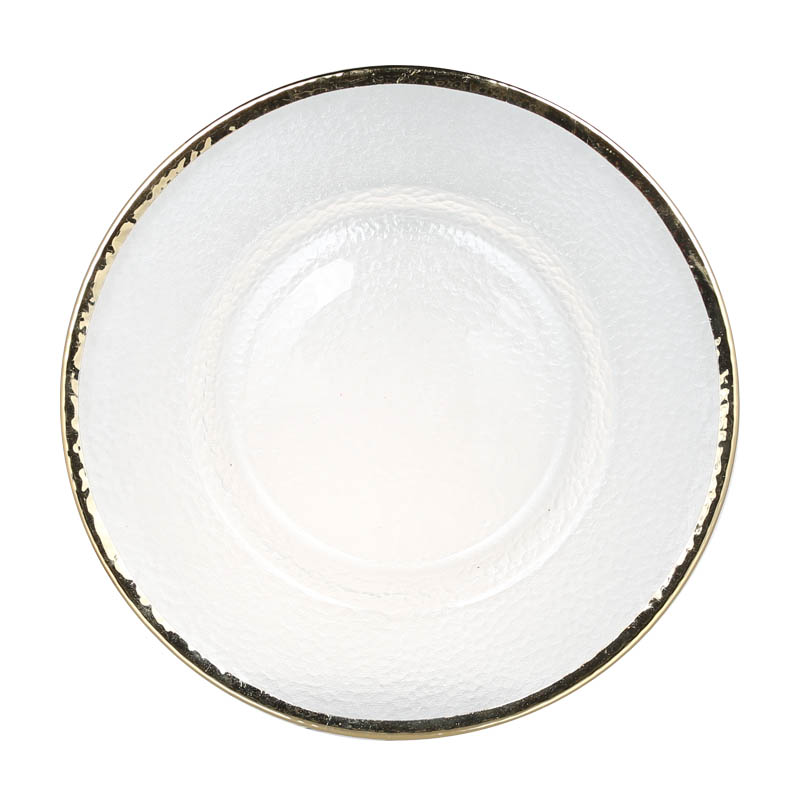 GLASS TABLEWARE OBO GOLD PLATE 280