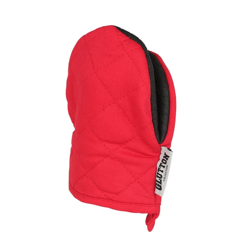 GLUTTON OVEN MITT RED