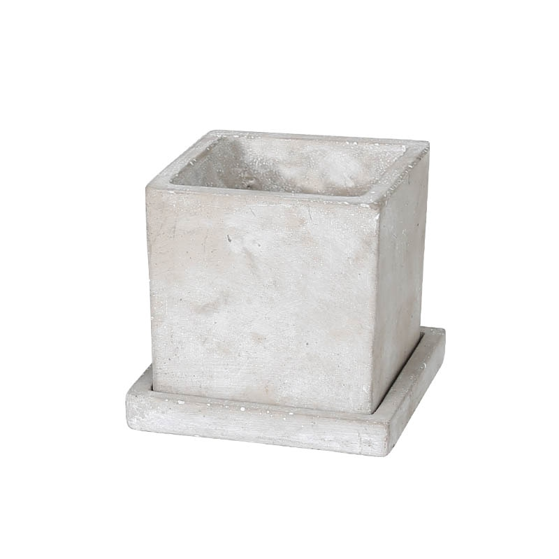 SOLID PLANTER CUBE L PLAIN