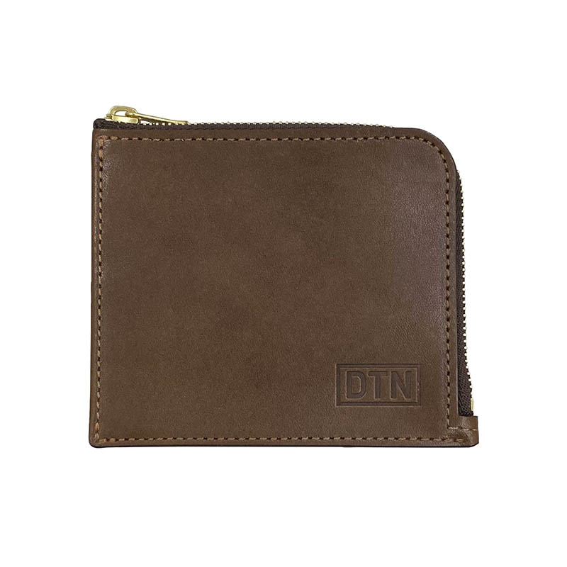 ZIP PURSE D.BROWN