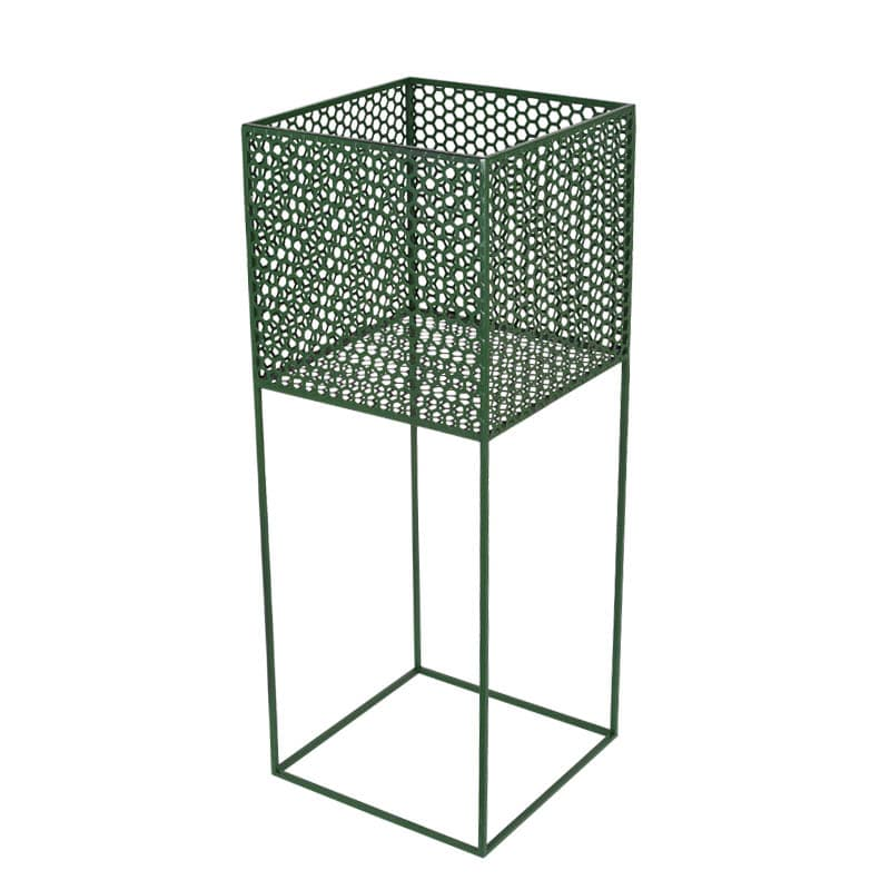 HONEYCOMB MESH PLANTER STAND L GREEN