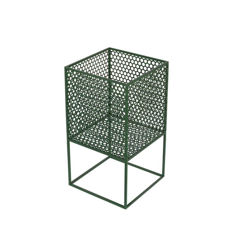 HONEYCOMB MESH PLANTER STAND S GREEN