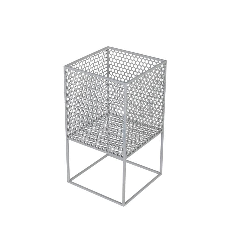 HONEYCOMB MESH PLANTER STAND S GRAY