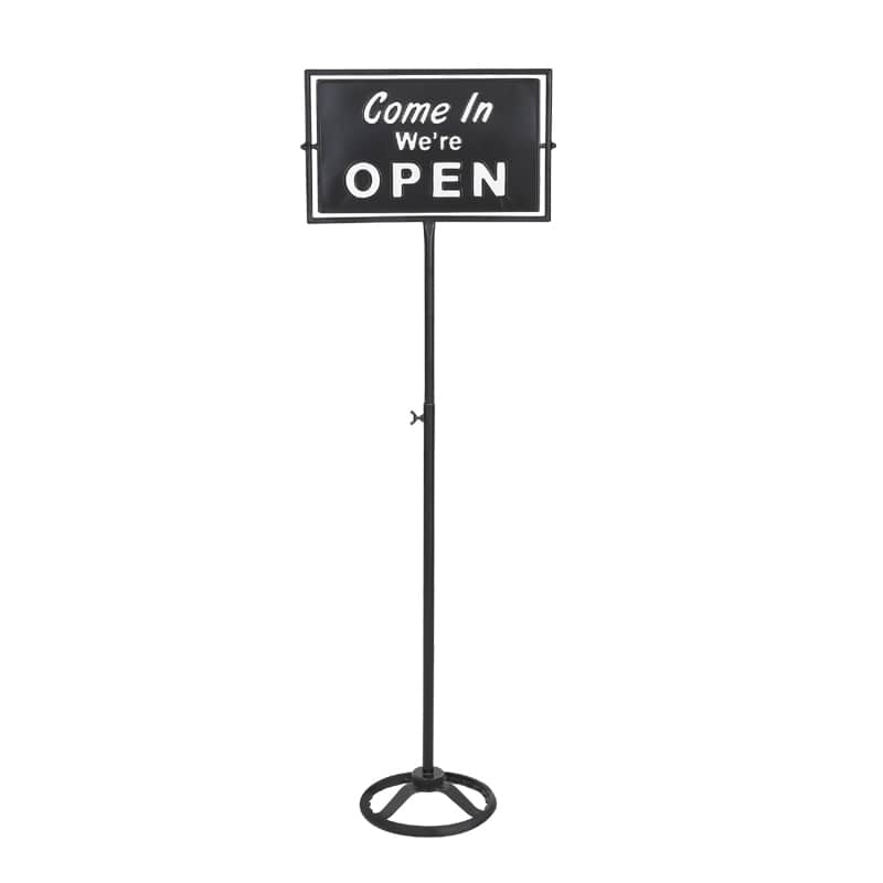 SPINNER SIGN STAND OPEN-CLOSED BLACK
