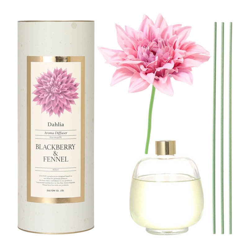 AROMA DIFFUSER DAHLIA 450 PINK/BLACKBERRY&FENNEL