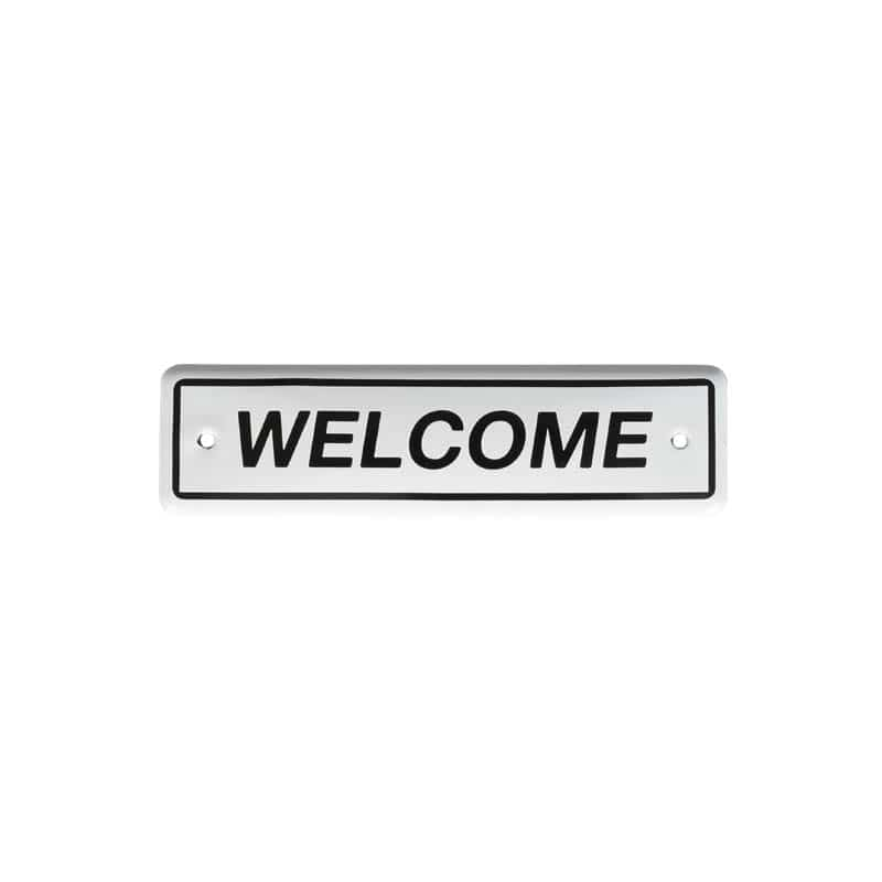 ENAMELED SIGN WELCOME