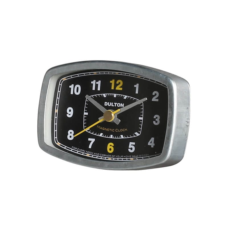 MAGNETIC CLOCK RECTANGLE/BLACK