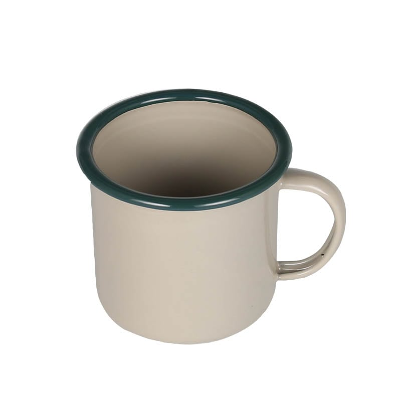 ENAMELED MUG BEIGE/GREEN