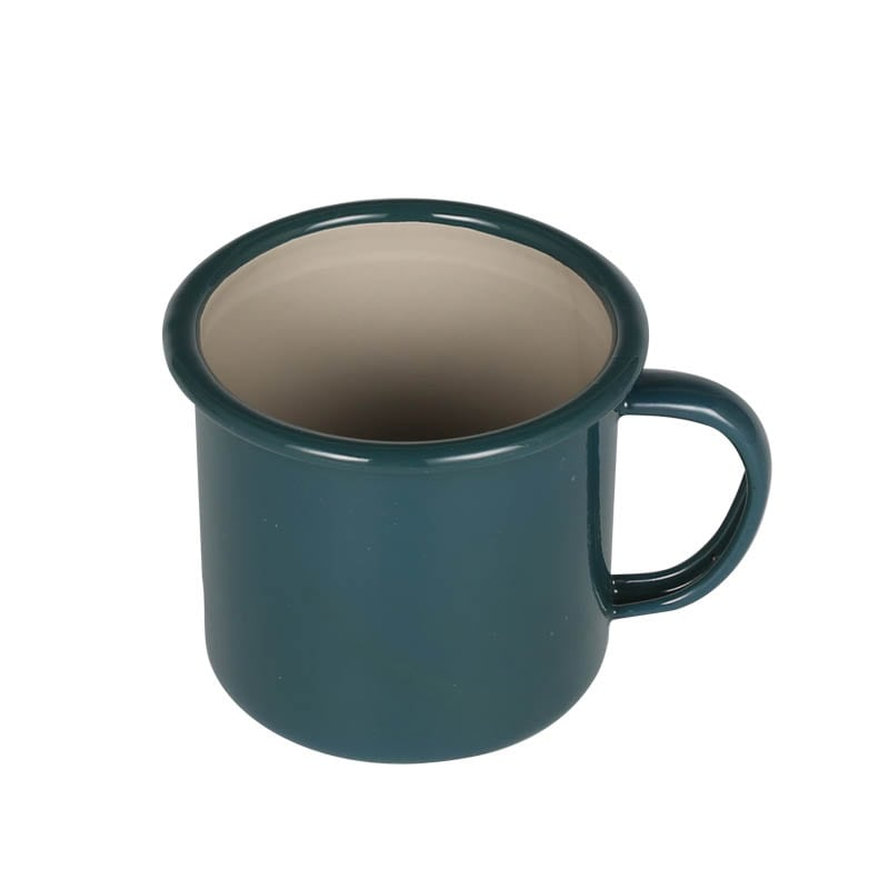 ENAMELED MUG GREEN