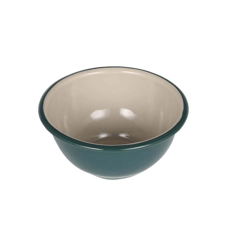 ENAMELED BOWL GREEN