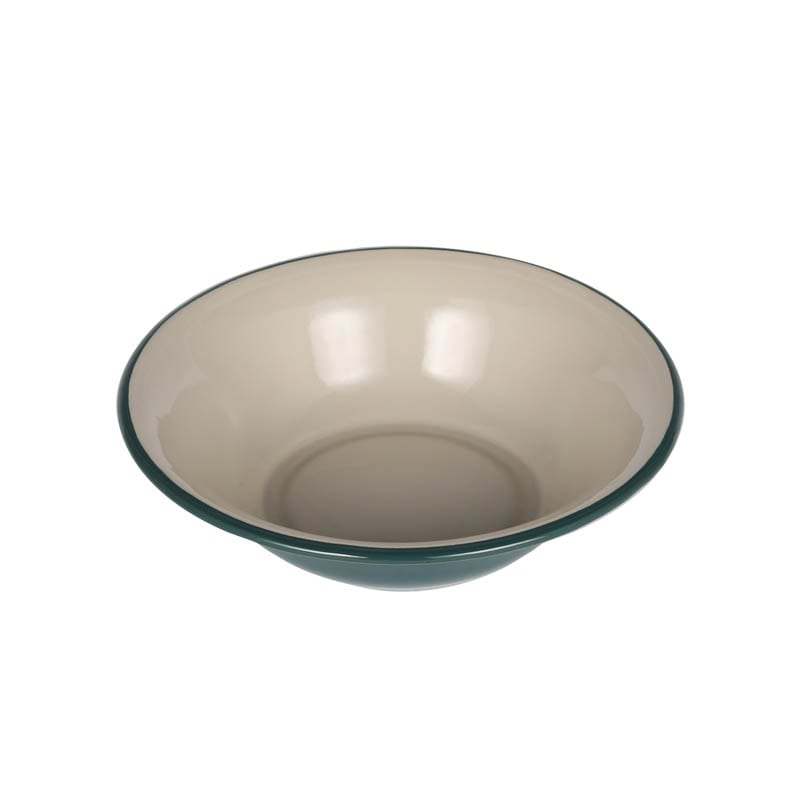 ENAMELED DEEP PLATE GREEN