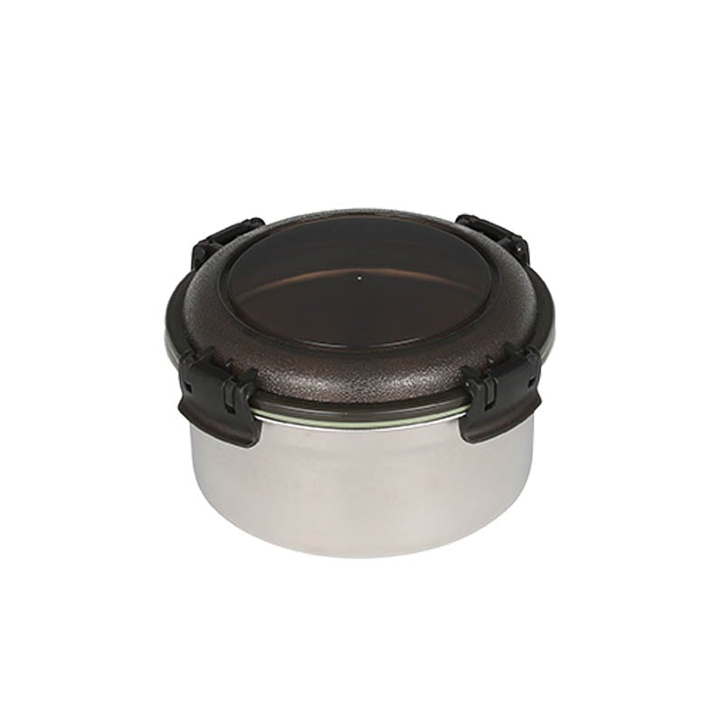 SS FOOD CONTAINER ROUND M SMOKE