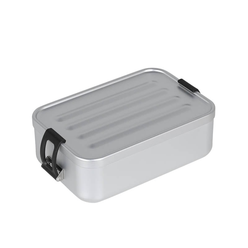 ALUMINUM LUNCH BOX SILVER