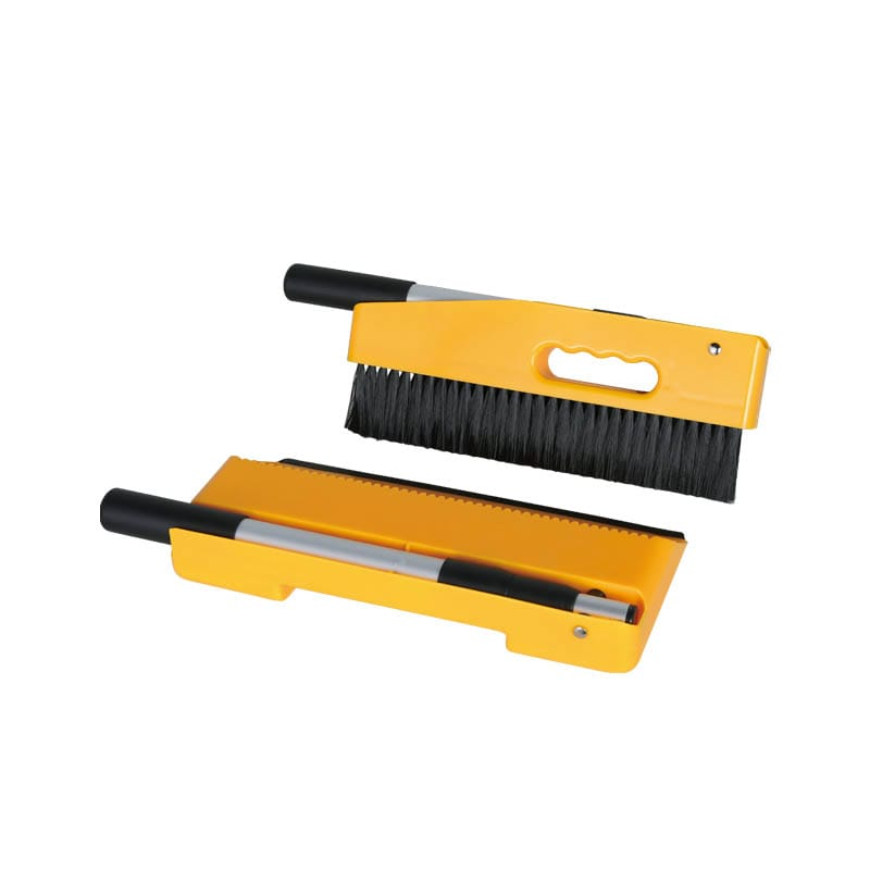 HANDY DUSTPAN BRUSH CHROME YELLOW