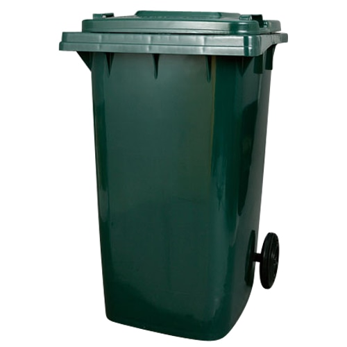 PLASTIC TRASH CAN 240L GREEN