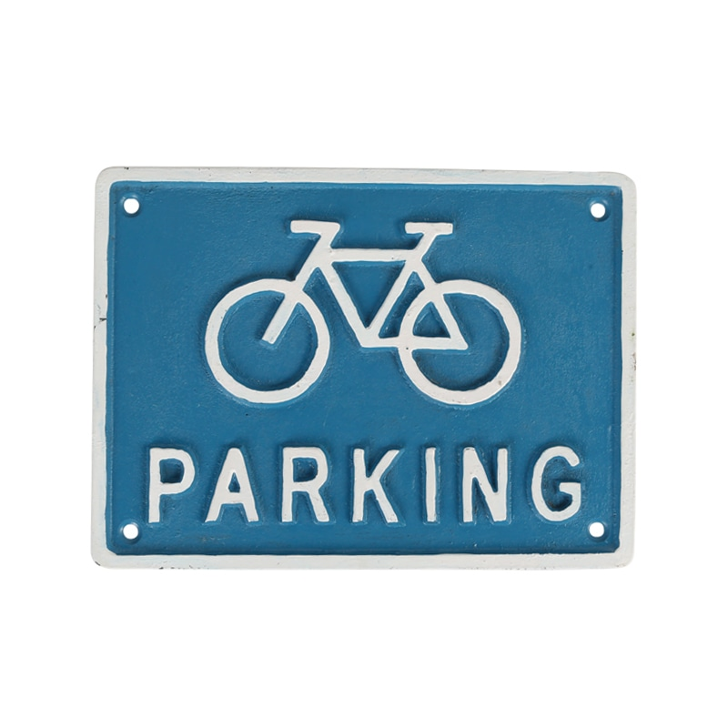 IRON SIGN ''BICYCLE PARKING'' BLUE